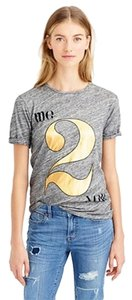 J.Crew T Shirt Gray and Gold