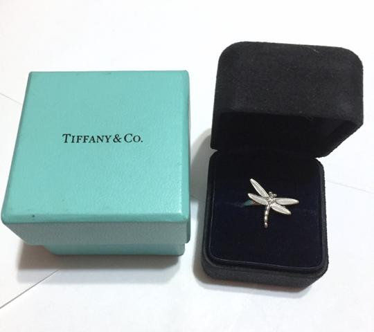 Tiffany & Co. Tiffany & Co - SOLID 18k 18kt White Gold - DRAGONFLY Ring with Diamond - Size = 5.25 - Retail = $2450 Image 2