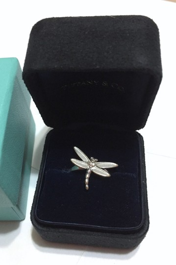 Tiffany & Co. Tiffany & Co - SOLID 18k 18kt White Gold - DRAGONFLY Ring with Diamond - Size = 5.25 - Retail = $2450 Image 3