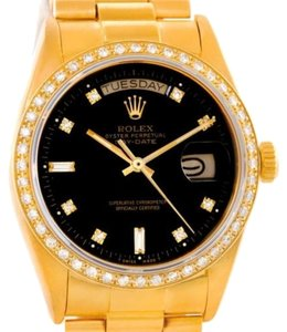 Rolex Rolex President Day-date Mens 18k Yellow Gold Diamond Watch 18038