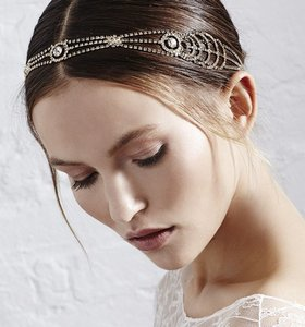Silver-plated Crystal Bridal Headband