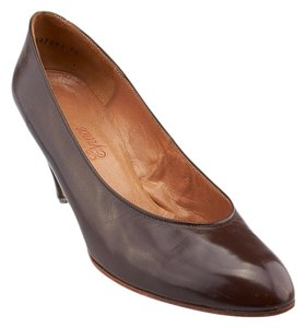 Charles Jourdan Leather Heels Occassion Brown Formal