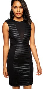 River Island Textured Plunge Bodycon Dress
