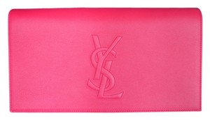Saint Laurent Ysl Red Pink Clutch