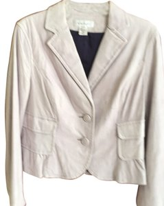 Nine West Light grey; mist Leather Jacket