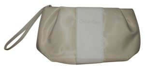 Calvin Klein Calvin Klein Tan and Cream Cosmetic Bag