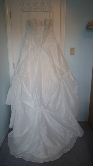 Diamond/Silk White Taffeta Style 8594 Modern Dress Size 20 (Plus 1x)