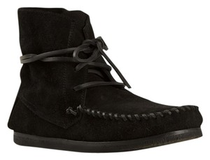 Isabel Marant Leather Edgy Festival Bootie Black Boots