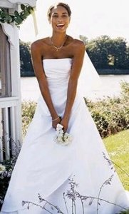 Michaelangelo White T8076 Traditional Wedding Dress Size Other