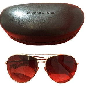 Michael Kors Michael Kors Gold Aviator Sunglasses