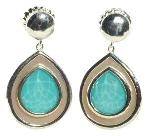 Ippolita Ippolita Sterling Silver Turquoise Mother of Pearl Earrings Rock Candy Teardrop