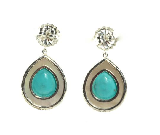 Ippolita Ippolita Sterling Silver Turquoise Mother of Pearl Earrings Rock Candy Teardrop Image 1