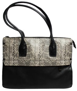 Kenneth Cole Leather Tote in Black