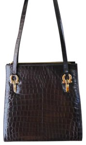 Salvatore Ferragamo Crocodile Shoulder Bag