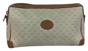 Gucci Monogram Coated Canvas and Leather Cosmetic Bag