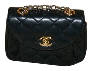 Chanel Quilted Leather Mini Evening Cross Body Bag
