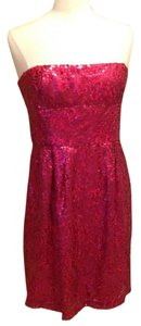 BCBGMAXAZRIA Bcbg Strapless Sequin Size 12 Dress
