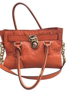Michael Kors Satchel in orange gold hardware