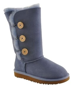 UGG Australia Kids Bailey Button Triplet Country Blue Boots