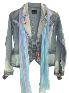 one of kind -custom altered upcycled denim Womens Jean Jacket