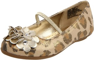 Kenneth Cole Gold leopard print Flats