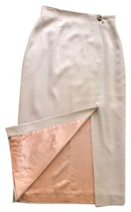 Jones New York Long Formal Maxi Skirt Beige