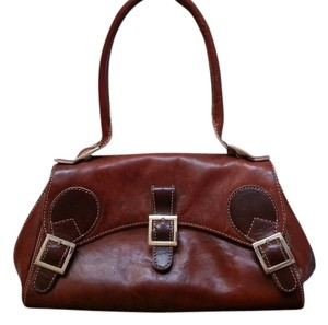 Cynthia Rowley Leather Satchel in brown