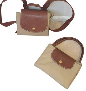 Longchamp Backpack Taupe Travel Tote