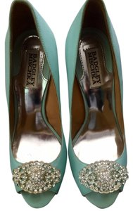 Badgley Mischka Tiffany Sky Blue Pumps