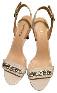 Nine West White Sandals