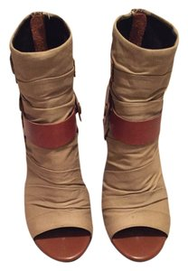 Trouvé Fabric/leather Tan Fabric/Leather Boots