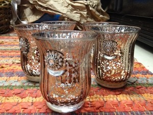 Expressions Silver 5 Mercury Glass Votive Holders Reception Decoration