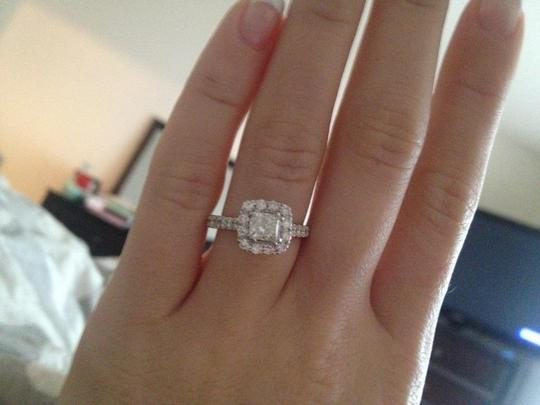Engagement Ring 1 1 2 Ct Tw Diamonds 14k White Gold With