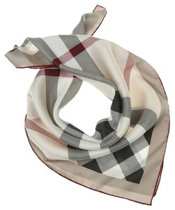 Burberry Burberry Smoked Trench Check Oblong Silk Scarf