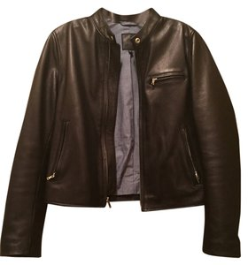 Gap Leather Silver Hardware Leather Jacket