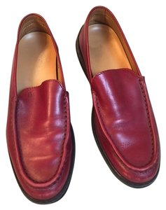 Tod's Leather Loafers Comfortable Signature Detail red Flats