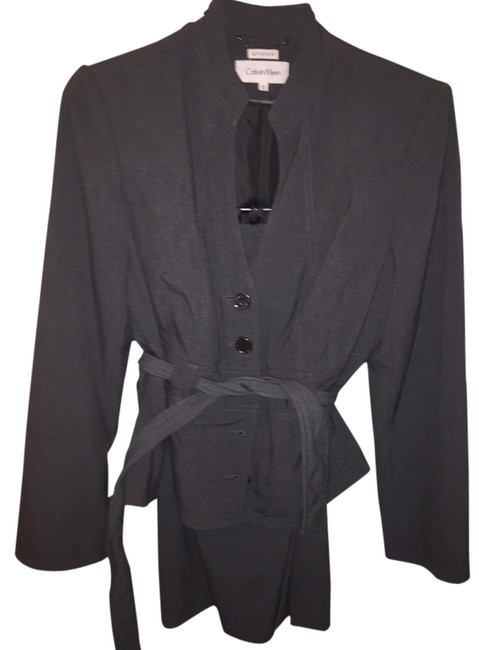 Item - Charcoal Gray Stretch Skirt Suit Size 12 (L)