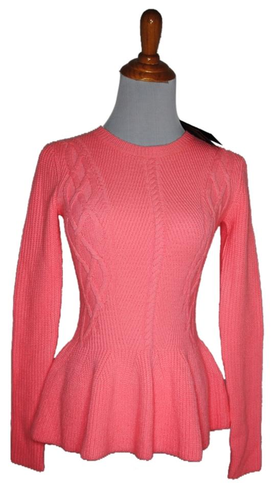 b2912f10384962 Ted Baker London Peplum Knit Xs 2 New New Cable Stretch 1 Fall Winter  Sweater Image ...