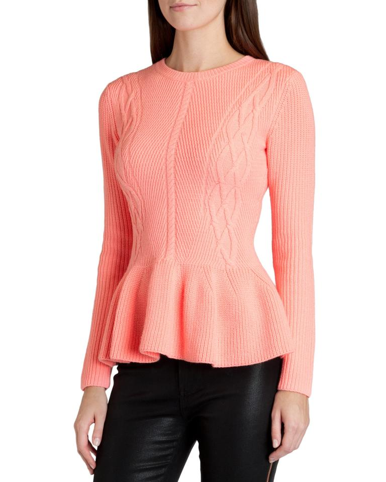 506f39e84773fe Ted Baker London Peplum Knit Xs 2 New New Cable Stretch 1 Fall Winter  Sweater Image. 123456789101112