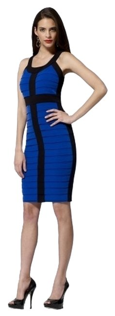 Preload https://img-static.tradesy.com/item/6785152/cache-black-blue-pleated-colorblock-above-knee-cocktail-dress-size-6-s-0-0-650-650.jpg