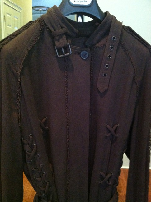 Saint Laurent Runway Braided Accents Tom Ford Era Make An Offer Trench Coat Image 1
