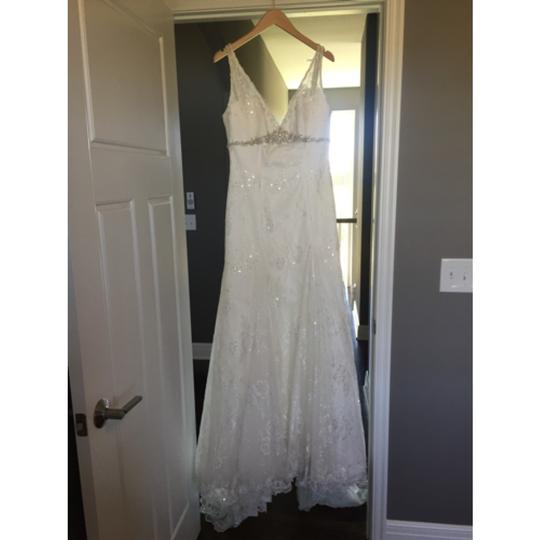 Sottero and Midgley Ivory Lace Astor Feminine Wedding Dress Size 12 (L)