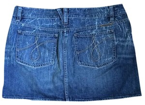 Juicy Couture Denim Pencil Distressed Mini Skirt