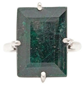 Neiman Marcus (REDUCED FOR THE HOLIDAYS) EMERALD 20 ct. Emerald cut Sterling Sliver Estate Ring *Natural Gemstone