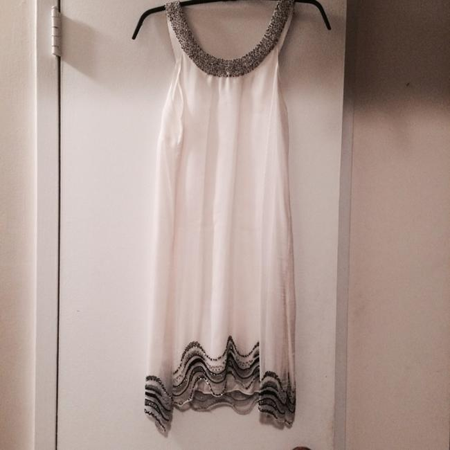 Alice + Olivia And Silk White Beaded And Shift Dress