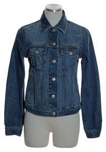Lucky Brand Slightly Distressed Jean Womens Jean Jacket