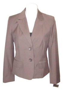 Merona Tapered Lined Risdarling Taupe Brown Blazer