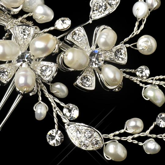 Elegance by Carbonneau Silver Freshwater Pearl Vine Comb Hair Accessory
