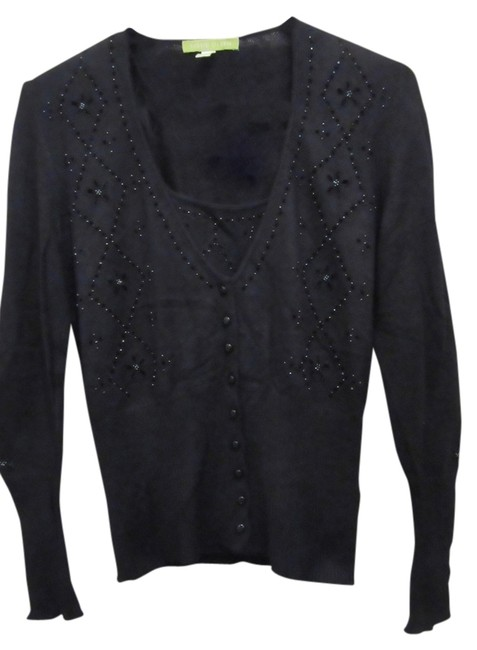 Preload https://img-static.tradesy.com/item/6788896/sigrid-olsen-black-knit-twinset-with-beads-cardigan-size-petite-4-s-0-1-650-650.jpg