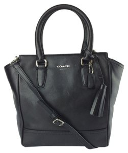 Coach Legacy Leather Mini Tanner Satchel in black